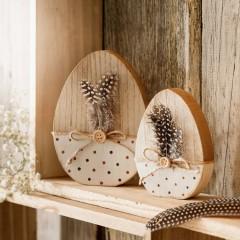"Декоративные фигурки яйца ""Перышки"" дерево, 2 шт."