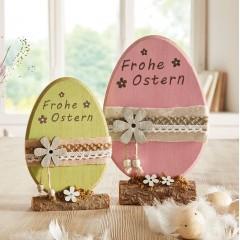 """Декоративные фигурки """"Яйца. Веселая Пасха"""" дерево, 2 штуки"""