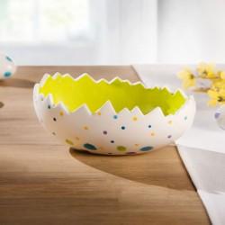 """Декоративная чаша """"Пасхальное яйцо в горошек"""" фарфор, 21х14х9 см"""