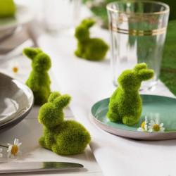 """Декоративные фигуры """"Зайчики - зеленый мох"""", 12 штук"""