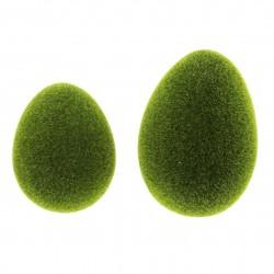 """Декоративные фигурки """"Яйца, зеленый мох"""" 2 штуки"""