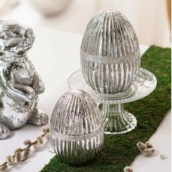 """Декоративные фигурки """"Яйца серебряные"""" 2 штуки"""