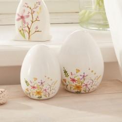 """Декоративные фигуры """"Яйца-цветочная поляна"""", фарфор, 2 штуки"""