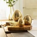 """Декоративные фигуры """"Золотые пасхальные яйца"""", терракота, 3 штуки"""