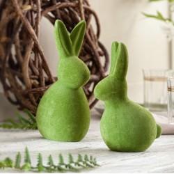 """Декоративные фигуры """"Зайчики - зеленый мох"""", 2 штуки"""