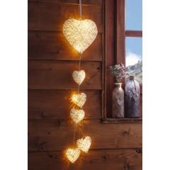 """Декоративный подвес """"Светящиеся сердца"""" LED, В 65 см"""