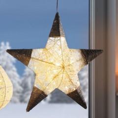 """Декоративный подвес """"Плетеная звезда"""" со светодиодами, Д 48 см"""
