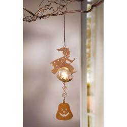 """Декоративный подвес """"Полет ведьмы"""" со светодиодной подсветкой, металл, В 45 см"""