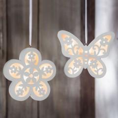"Декоративные подвесы ""Цветок и бабочка"" со светодиодами, 2 шт."
