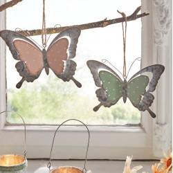 """Декоративные подвесы """"Бабочки - романтичное настроение"""" металл, 2 штуки"""
