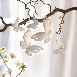 """Декоративные подвески """"Белые бабочки"""", фарфор, 5 штук"""