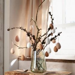 """Декоративные подвески """"Яйца - натур"""", пластик, 18 штук"""