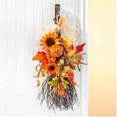 """Декоративный подвес """"Осенняя метла"""" высота 60 см"""