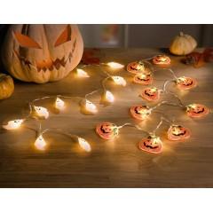 """Декоративные гирлянды """"Хэллоуин"""" со светодиодами, длина 120 см, 2 штуки"""