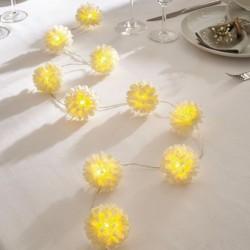 """Декоративная гирлянда """"Белые цветы"""" со светодиодами, длина 140 см"""