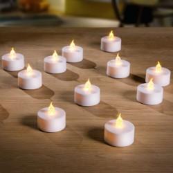 """Свечи """"Настроение"""" чайные, со светодиодами, 12 штук"""