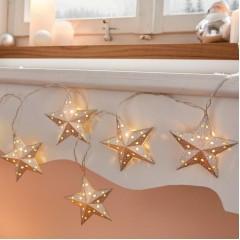"""Декоративная гирлянда """"Серебряные звезды"""" со светодиодами, длина 110 см"""