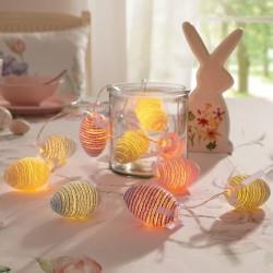 """Гирлянда """"Разноцветные яйца"""" со светодиодами, длина 130 см"""