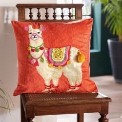 """Наволочка для декоративной подушки """"Перуанская лама"""" 45х45 см"""