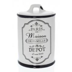"Баночка ""Париж"" керамика, В 14 см"