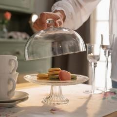 """Блюдо с куполом """"Кристалл"""", стекло, 20х19 см"""