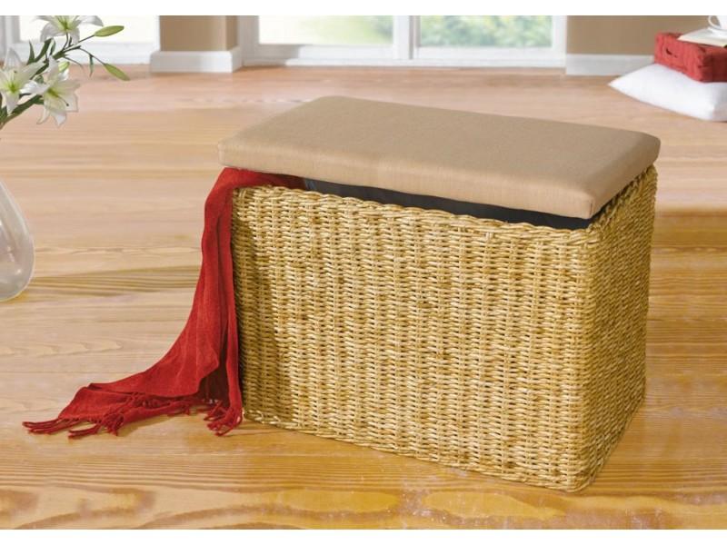 Плетеная скамья-сундук