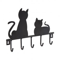 """Вешалка """"Кошки"""" настенная, металл, 19х15 см"""