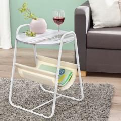 "Столик приставной ""Белый мрамор"", 39х39х55 см"