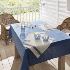 """Подложки на стол """"Синяя линия"""" 45х30 см, 4 штуки"""