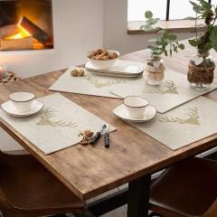 """Подложки на стол """"Олени"""" 45х33 см, 4 штуки"""