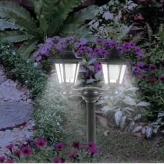 """Солнечный светильник """"Двойной"""" с дополнительным креплением на стену, 131х60х30 см"""