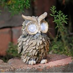 """Садовый светильник """"Сова"""" со светодиодами, В 16 см"""