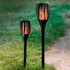"""Садовый штекер """"Горящее пламя"""" большой, на светодиодах, В 78 см"""