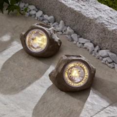 """Солнечные светильники """"Камни"""" 2 штуки"""