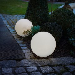 """Солнечный светильник """"Шар"""" светится разными цветами, диаметр 30 см"""