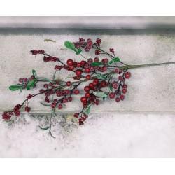 """Декоративная веточка """"Морозные ягоды"""" В 74 см"""