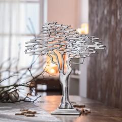 """Декор """"Серебряное дерево"""" металл, 37х42 см"""