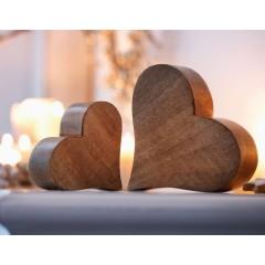 """Декоративные фигурки """"Два сердечка"""" дерево, 2 шт."""