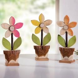 "Декоративные фигурки ""Весенние цветочки"" дерево, 3 шт."