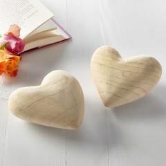 """Декоративные фигурки """"Сердечки"""" дерево, 2 шт."""