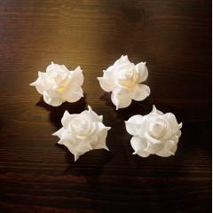 """Декор """"Розы"""" со светодиодами, 4 штуки"""