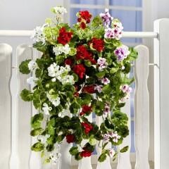 """Декоративное растение """"Герань"""" в трех цветах, длина 62 см"""