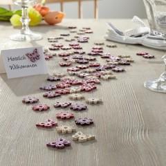 """Комплект для декорирования """"Бабочки и цветочки"""" дерево, 90 штук"""