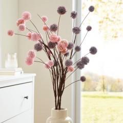 """Декоративные ветви """"Осенние цветы"""" 2 штуки, В 90 см"""