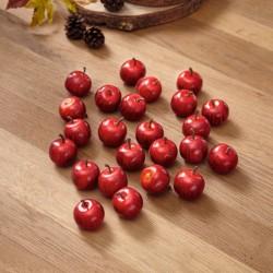 """Комплект для декорирования """"Красные яблоки"""" 24 штуки"""