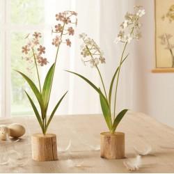 """Декоративные растения """"Цветы - пастель"""", 2 штуки, высота 33 см"""
