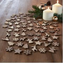 """Набор для декорирования """"Рождество"""" дерево, 72 штуки"""