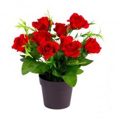 """Декоративное растение """"Красные розы"""" В 25 см"""