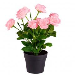 """Декоративное растение """"Розовые розы"""" высота 25 см"""
