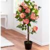 """Декоративное растение """"Розовый куст"""" со светодиодами, В 60 см"""